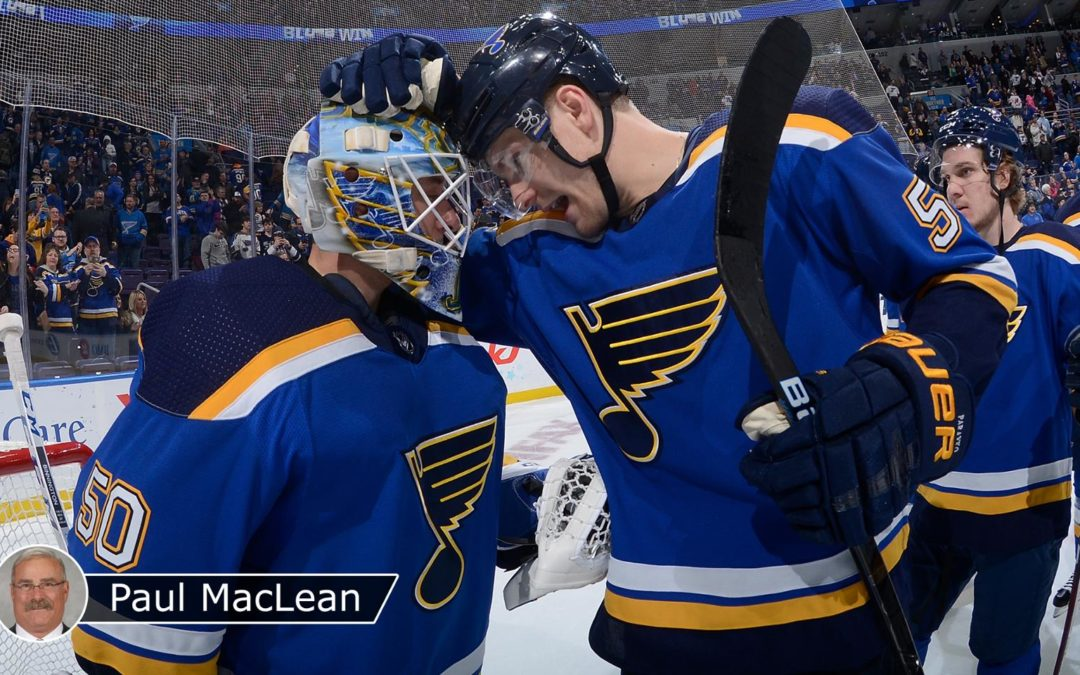 Blues' rise sparked by Berube's influence, Binnington's ascent