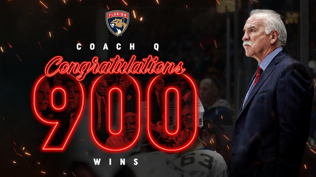 Joel Quenneville Reaches Milestone 900th NHL Head Coaching Win