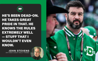 Trusting video coach Kelly Forbes never a challenge for Stars