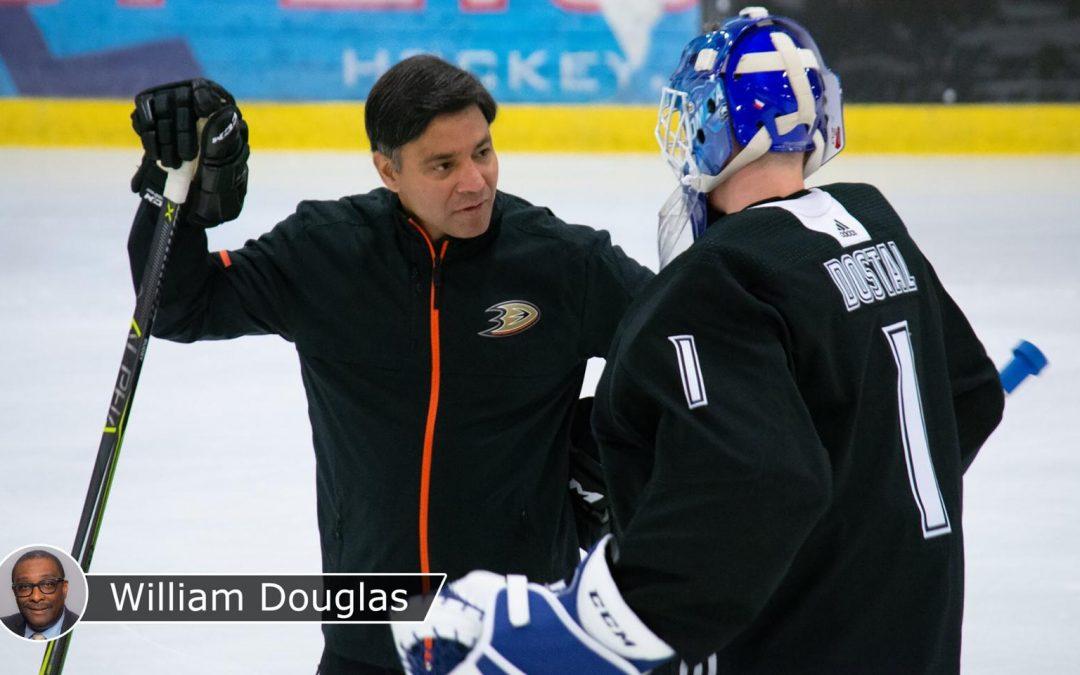 Color of Hockey: Maharaj traveled long road to become Ducks goalie coach