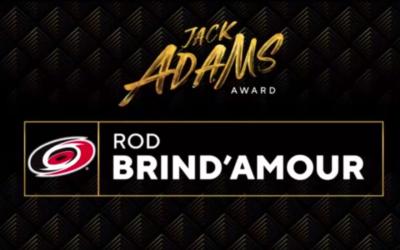 Brind'Amour of Hurricanes wins Jack Adams Award as NHL coach of year