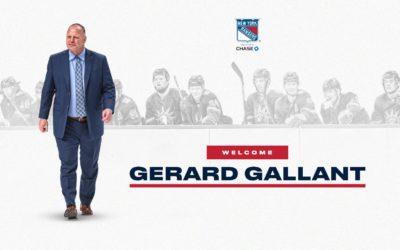 Gerard Gallant Named Rangers Head Coach