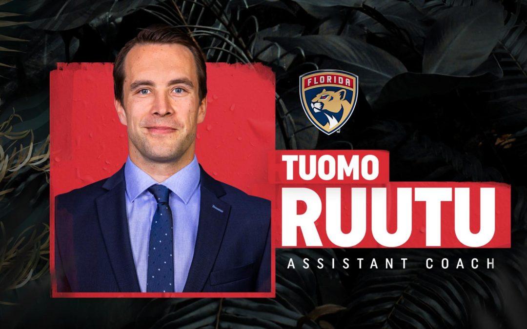 Florida Panthers Name Tuomo Ruutu Assistant Coach