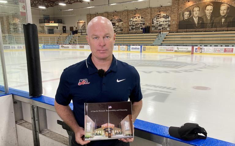 Nashville Predators head coach John Hynes visits Essentia Duluth Heritage Center