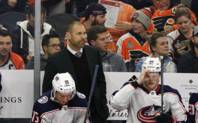 Blue Jackets' Brad Larsen Showing Some Personality Behind the Bench